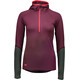 """Mons Royale W's Checklist Geo LS Hood Burgundy/Forest Green"""